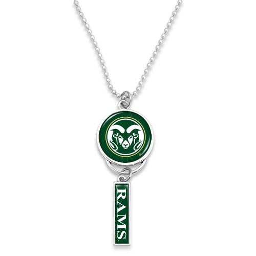 Colorado State Rams Car Charm- Logo with Trifecta Bar/Nameplate