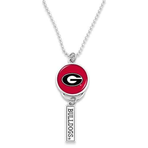Georgia Bulldogs Car Charm- Logo with Trifecta Bar/Nameplate