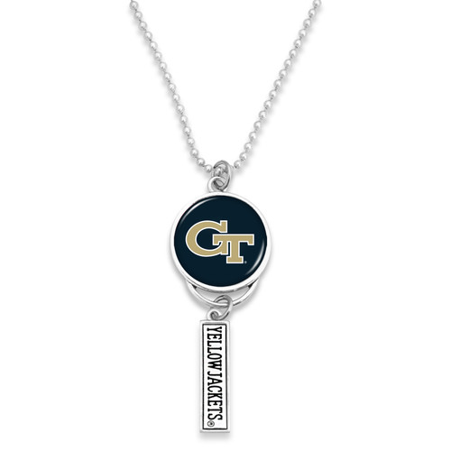 Georgia Tech Yellow Jackets Car Charm- Logo with Trifecta Bar/Nameplate