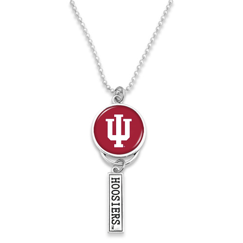 Indiana Hoosiers Car Charm- Logo with Trifecta Bar/Nameplate