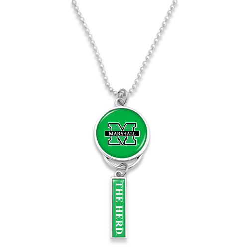 Marshall Thundering Herd Car Charm- Logo with Trifecta Bar/Nameplate