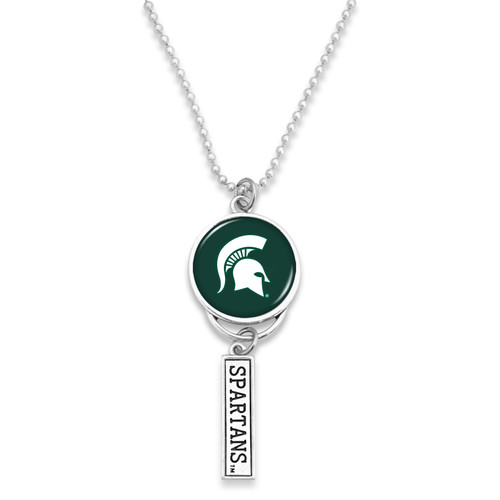 Michigan State Spartans Car Charm- Logo with Trifecta Bar/Nameplate