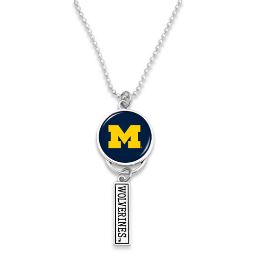 Michigan Wolverines Car Charm- Logo with Trifecta Bar/Nameplate