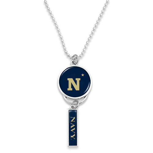 Naval Academy Midshipmen Car Charm- Logo with Trifecta Bar/Nameplate
