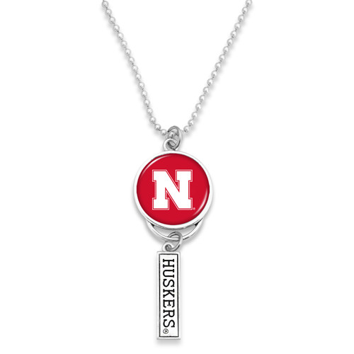 Nebraska Cornhuskers Car Charm- Logo with Trifecta Bar/Nameplate