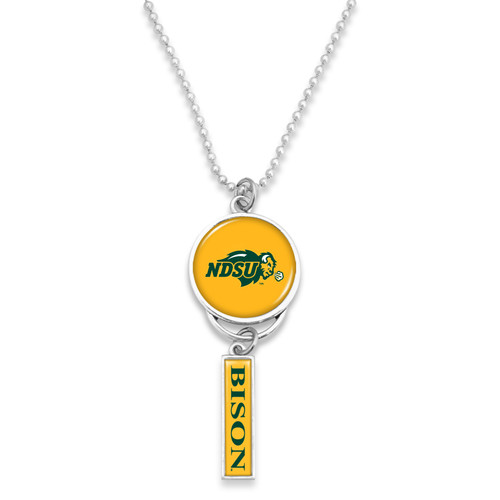 North Dakota State Bison Car Charm- Logo with Trifecta Bar/Nameplate