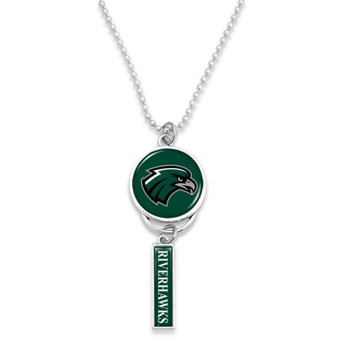 Northeastern State Riverhawks Car Charm- Logo with Trifecta Bar/Nameplate