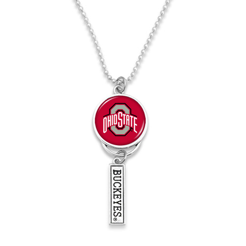 Ohio State Buckeyes Car Charm- Logo with Trifecta Bar/Nameplate