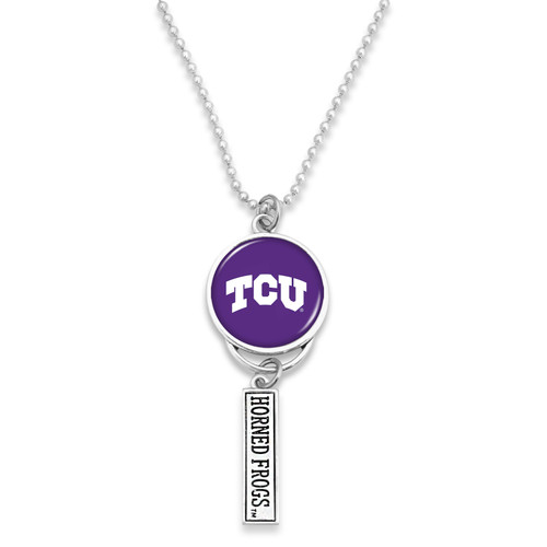 TCU Horned Frogs Car Charm- Logo with Trifecta Bar/Nameplate