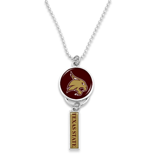 Texas State Bobcats Car Charm- Logo with Trifecta Bar/Nameplate