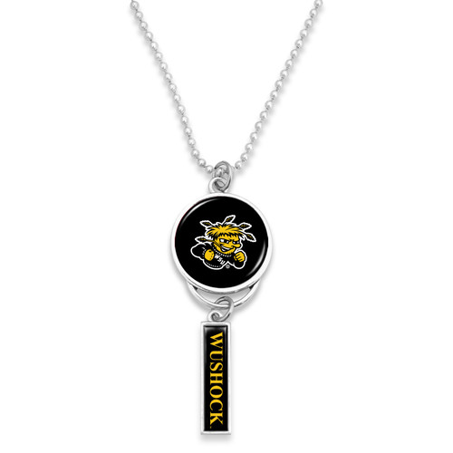Wichita State Shockers Car Charm- Logo with Trifecta Bar/Nameplate