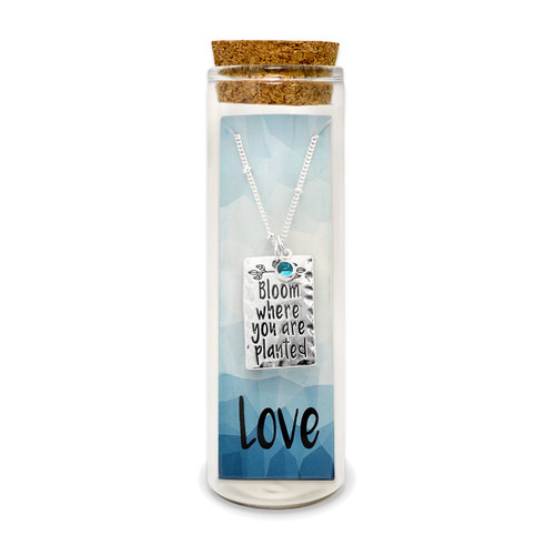 Embrace Your Message- Saying Necklace / Love
