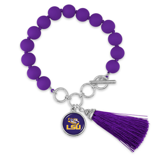 LSU Tigers Bracelet- No Strings Attached