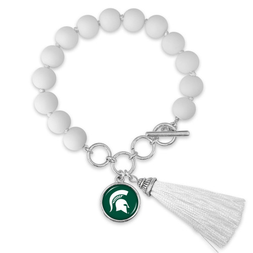 Michigan State Spartans Bracelet- No Strings Attached