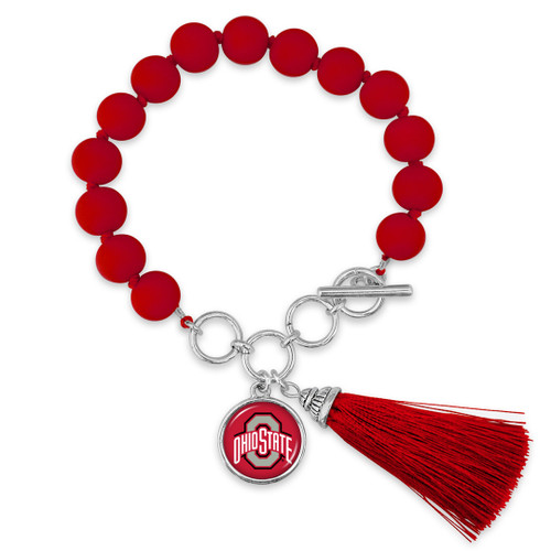 Ohio State Buckeyes Bracelet- No Strings Attached