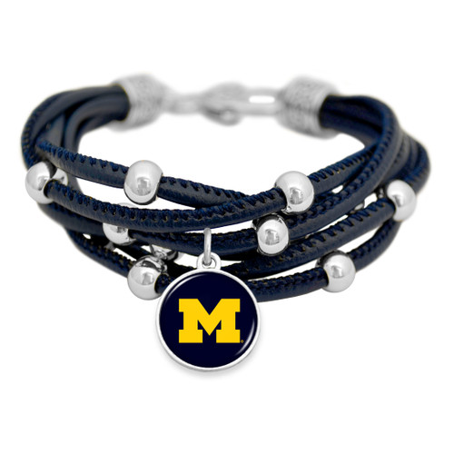 Michigan Wolverines Bracelet- Lindy