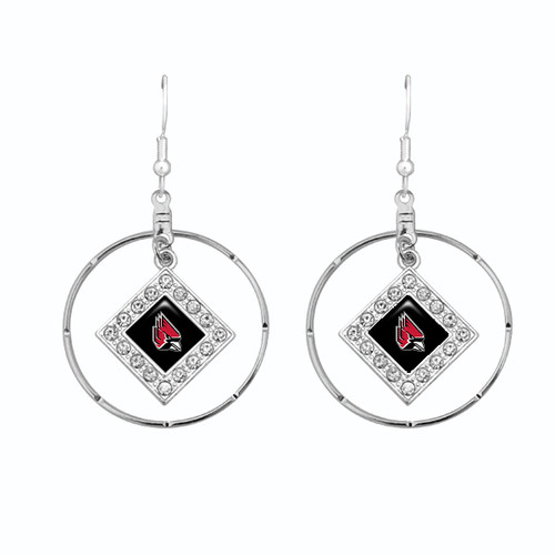 Ball State Cardinals Earrings-  Ellie