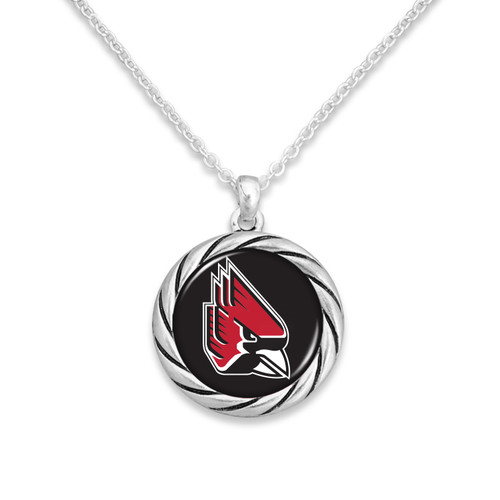 Ball State Cardinals Necklace- Twisted Rope