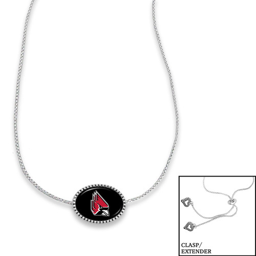 Ball State Cardinals Adjustable Slider Bead Necklace- Kennedy