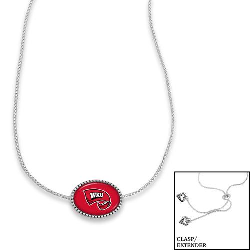 Western Kentucky Hilltoppers Adjustable Slider Bead Necklace- Kennedy