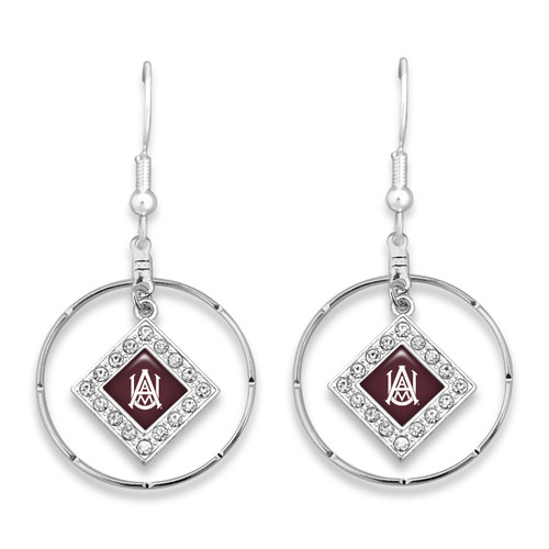 Alabama A&M Bulldogs Earrings- Ellie