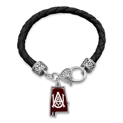 Alabama A&M Bulldogs Bracelet- State of Mine
