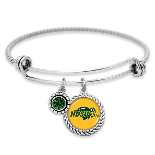 North Dakota State Bison Bracelet- Olivia