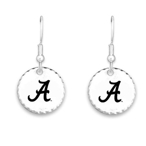 Alabama Crimson Tide Stamped Disk Earrings