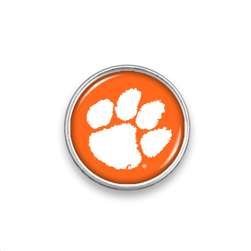 Clemson Tigers Snap Button- Primary Logo