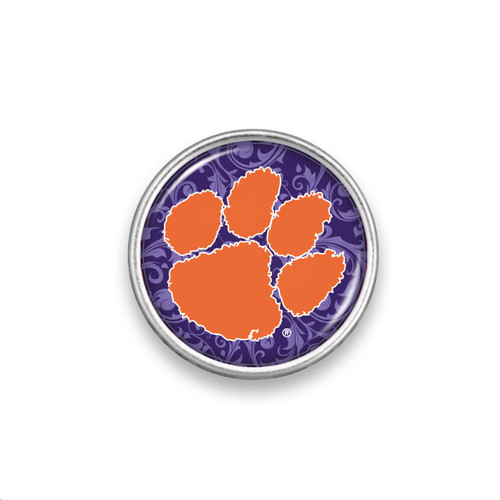 Clemson Tigers Snap Button- Floral Background