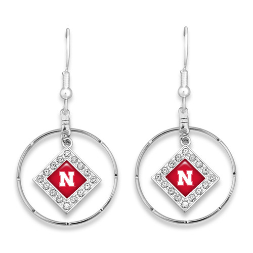 Nebraska Cornhuskers Earrings- Ellie