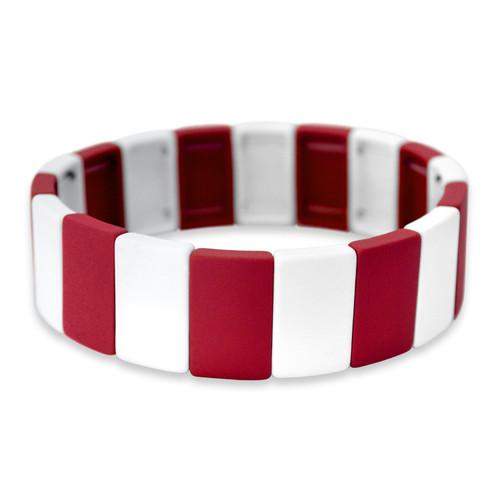 Spirit Stretch Bracelet- Red & White