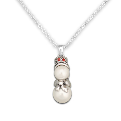 Beaded Snowman Necklace