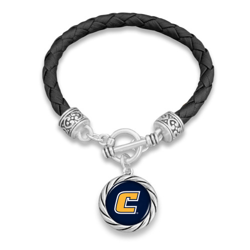 *Choose Your College* Bracelet- Black Leather Toggle