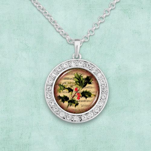Christmas Holly Artisan Necklace