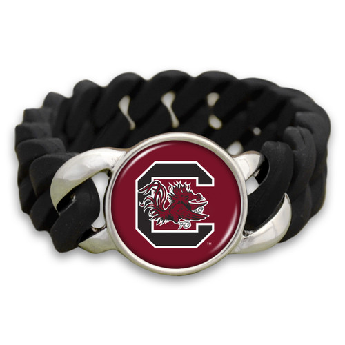 *Choose Your College* Bracelet- Black Quinn Silicone