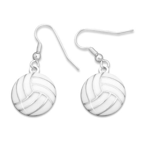 Enamel Volleyball Earrings