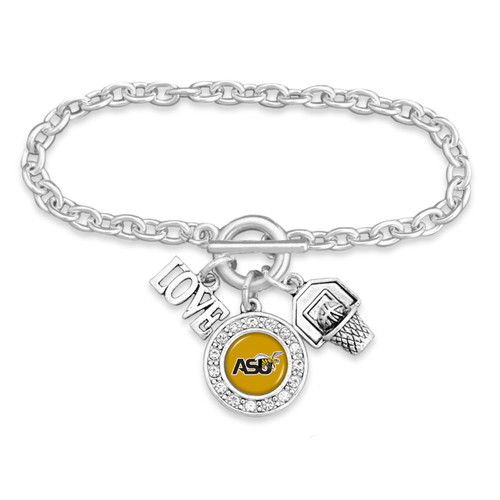 Basketball, Love, and Logo Charm College Bracelet