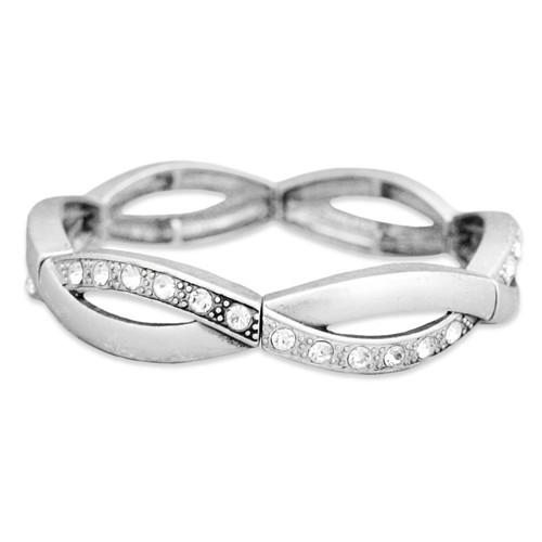 Arm Candy Stretch Bangle Bracelet- Twisted Open