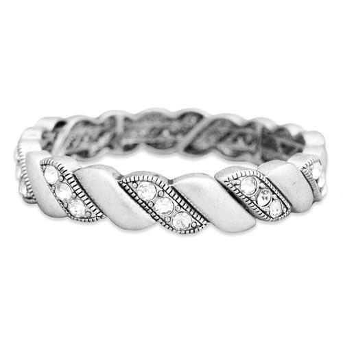 Arm Candy Stretch Bangle Bracelet- Braided