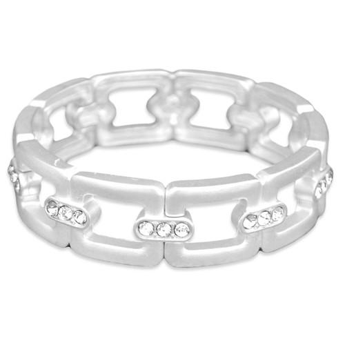 Arm Candy Stretch Bangle Bracelet- Square Link