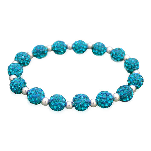 Turquoise My Team Bling Stretch Bracelet
