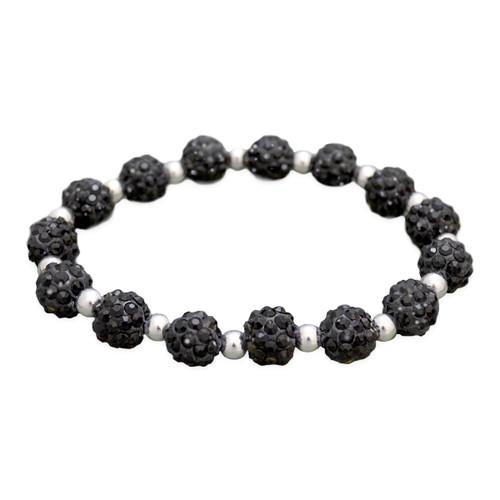 Black My Team Bling Stretch Bracelet