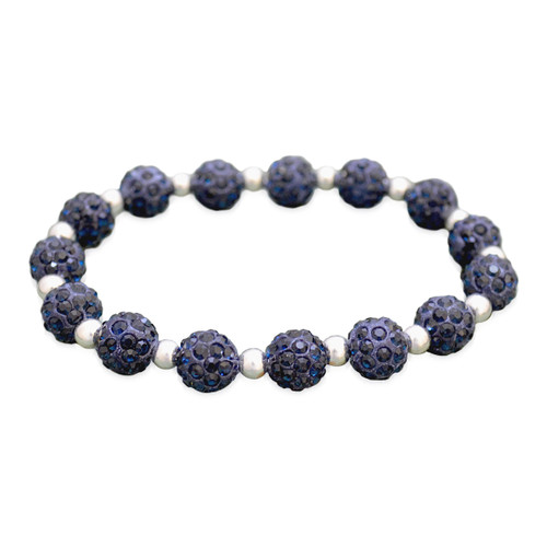 Navy My Team Bling Stretch Bracelet