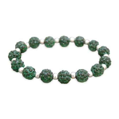 Deep Green My Team Bling Stretch Bracelet