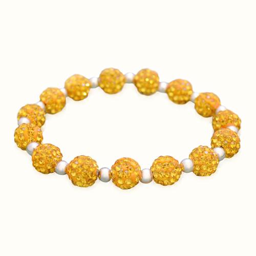 Gold My Team Bling Stretch Bracelet
