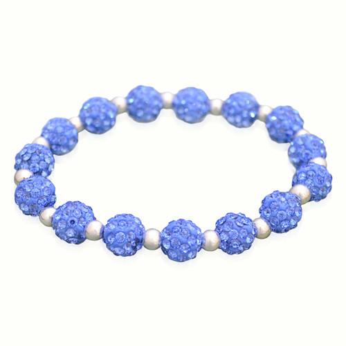 Light Blue My Team Bling Stretch Bracelet