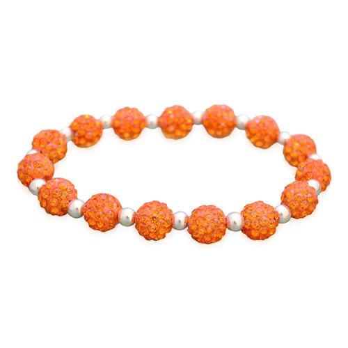 Orange My Team Bling Stretch Bracelet