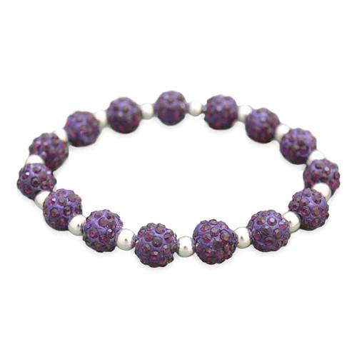 Purple My Team Bling Stretch Bracelet
