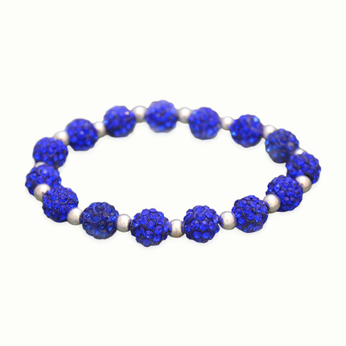 Royal Blue My Team Bling Stretch Bracelet